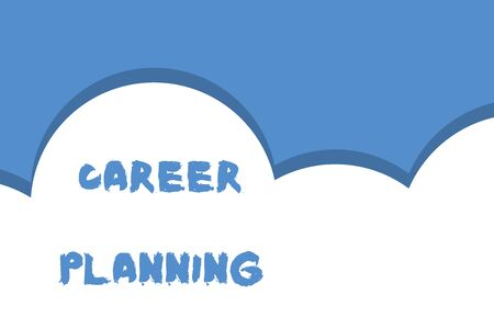 Writing note showing Career Planning. Business concept for Strategically plan your career goals and work success Half cloud blue sky landscape Seamless cloudy pattern Abstract