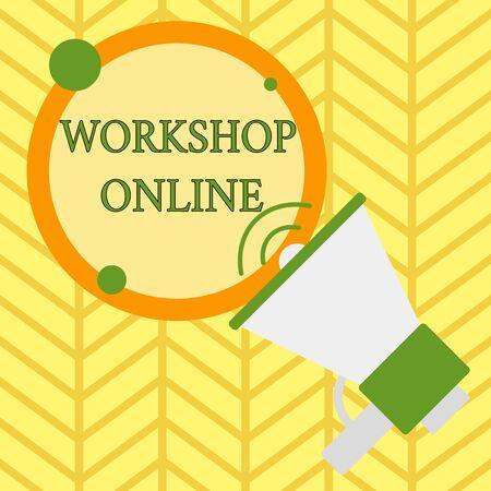 Handschrift Text schreiben Workshop Online. Konzeptioneller Fotoraum oder Gebäude, in dem die Ware analysiert wird