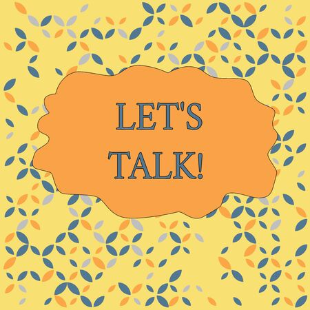 Text sign showing Let S Is Talk. Business photo text suggesting in the beginning of a conversation on the topic Seamless Endless Infinite Summer Autumn Leaf Texture Multicolored Pattern