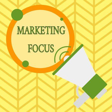 Handschrift Text schreiben Marketing-Fokus. Konzeptionelles Foto, das Ihre Kunden und ihre Bedürfnisse mit Statistiken versteht Standard-Bild
