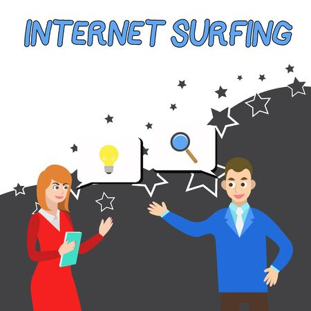 Conceptual hand writing showing Internet Surfing. Concept meaning browsing hundred of websites using any installed browser Business Partners Colleague Jointly Seeking Problem Solution