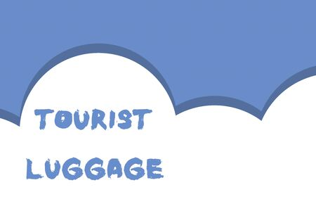 Writing note showing Tourist Luggage. Business concept for big bag that contains everything one needs for traveling Half cloud blue sky landscape Seamless cloudy pattern Abstract Reklamní fotografie