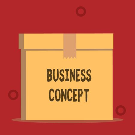 Word writing text Business Concept. Business photo showcasing new product approach to marketing or delivering it Close up front view open brown cardboard sealed box lid. Blank background