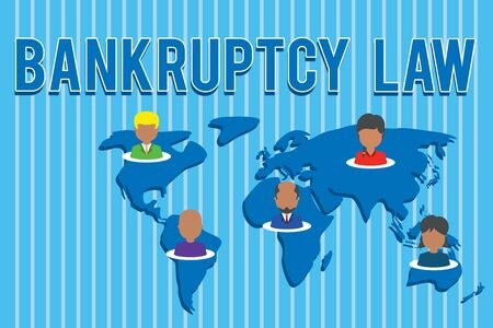 Conceptual hand writing showing Bankruptcy Law. Concept meaning Designed to help creditor in getting the asset of the debtor Connection multiethnic persons all Global business earth map