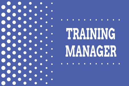 Handwriting text writing Training Manager. Conceptual photo giving needed skills for high positions improvement Decreasing points size background other half without drawing. Polka dots Imagens