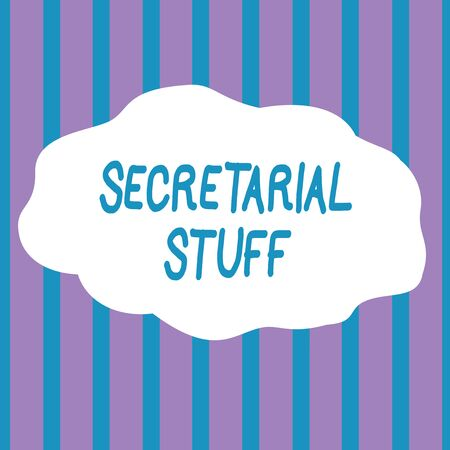 Text sign showing Secretarial Stuff. Business photo showcasing Secretary belongings Things owned by demonstratingal assistant Seamless Vertical Stripes Pattern in Blue and Violet Alternate Color Strip
