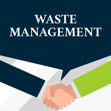 Conceptual hand writing showing Waste Management  Concept meaning