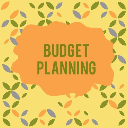 Conceptual hand writing showing Budget Planning. Concept meaning The written description about current and future expenses Seamless Summer Autumn Leaf Texture Multicolored Pattern Reklamní fotografie