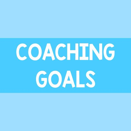 Writing note showing Coaching Goals. Business concept for Empowers individuals Encourages them to take responsibility Square rectangle paper sheet loaded with full creation of pattern theme