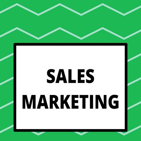 Writing note showing Sales Marketing. Business concept for introducing product or service in order to get bought Big square background inside one thick bold black outline frame