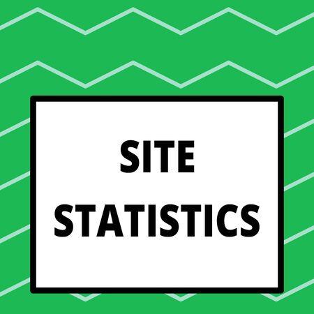 Writing note showing Site Statistics. Business concept for measurement of behavior of visitors to certain website Big square background inside one thick bold black outline frame Banco de Imagens - 124990857