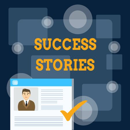 Writing note showing Success Stories. Business concept for life of rule models from how he started to his death Curriculum Vitae Resume of Candidate Marked by Color Mark