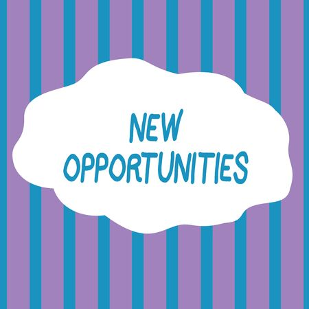 Text sign showing New Opportunities. Business photo showcasing A situation that makes it possible to do something Seamless Vertical Stripes Pattern in Blue and Violet Alternate Color Strip
