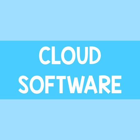 Writing note showing Cloud Software. Business concept for Programs used in Storing Accessing data over the internet Square rectangle paper sheet loaded with full creation of pattern theme
