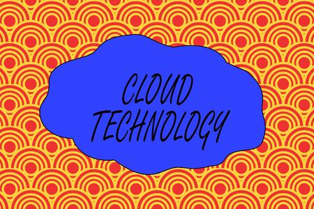 Handwriting text writing Cloud Technology. Conceptual photo storing and accessing data and programs over Internet Abstract seamless repeat design half circles peeping out from each other Stock fotó