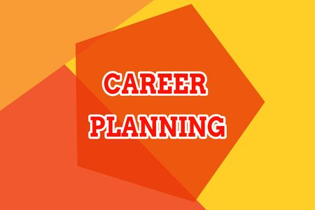 Conceptual hand writing showing Career Planning. Concept meaning Strategically plan your career goals and work success Geometric design card Applicable for covers posters banner Zdjęcie Seryjne - 125248530