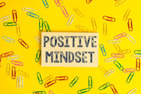 Text sign showing Positive Mindset. Business photo showcasing mental attitude in wich you expect favorable results Stock fotó