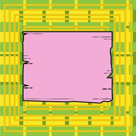 Planche carrée en bois cadre vide fentes rainures panneau de bois planche de bois de couleur concept d'entreprise modèle vide copie espace isolé affiches coupons matériel promotionnel