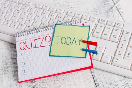 Conceptual hand writing showing Quiz Question. Concept meaning test of knowledge as competition between individuals or teams
