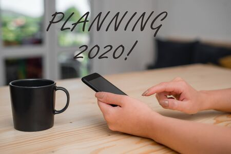 Conceptual hand writing showing Planning 2020. Concept meaning process of making plans for something next year Stockfoto