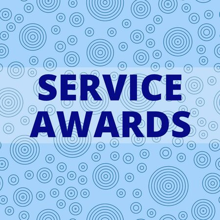 Writing note showing Service Awards. Business concept for Recognizing an employee for his or her longevity or tenure Multiple Layer Different Size Concentric Circles Diagram Repeat Pattern