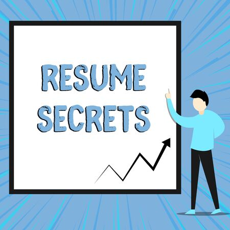 Word Writing Text Resume Secrets Business Photo Showcasing Tips