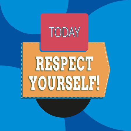 Writing note showing Respect Yourself. Business concept for believing that you good and worthy being treated well Blank rectangle above another zigzag upwards increasing sale