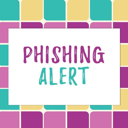 Writing note showing Phishing Alert. Business concept for aware to fraudulent attempt to obtain sensitive information Pastel Color Teardrops Shape with Border Flat Style Geometric Shape