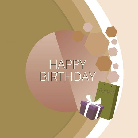 Text sign showing Happy Birthday. Business photo text The birth anniversary of a demonstrating is celebrated with presents Greeting Card Poster Gift Package Presentation Box Decorated by Bowknot
