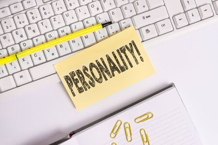 Text sign showing Personality  Business photo text combination