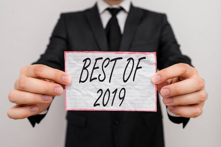 Text sign showing Best Of 2019. Business photo showcasing great and marvelous things and events happened on 2019