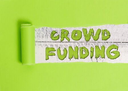 Word writing text Crowd Funding. Business photo showcasing Fundraising Kickstarter Startup Pledge Platform Donations