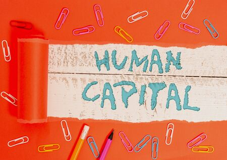 Conceptual hand writing showing Huanalysis Capital. Concept meaning Intangible Collective Resources Competence Capital Education
