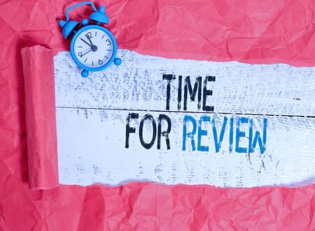 Writing note showing Time For Review. Business concept for review of a system or situation in its formal examination 写真素材