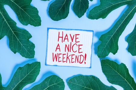 Handwriting text writing Have A Nice Weekend. Conceptual photo wishing someone that something nice happen holiday Archivio Fotografico