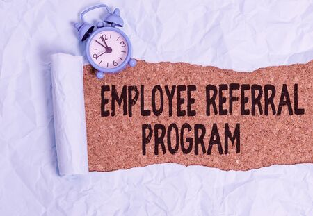 Handwriting text writing Employee Referral Program. Conceptual photo employees are rewarded for introducing recruits