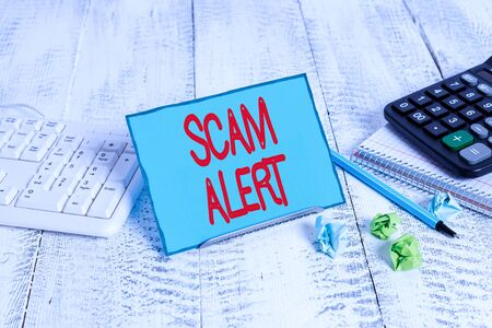 Text sign showing Scam Alert. Business photo text unsolicited email that claims the prospect of a bargain Stock Photo