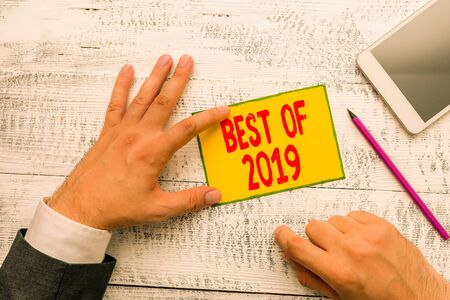 Handwriting text writing Best Of 2019. Conceptual photo great and marvelous things and events happened on 2019