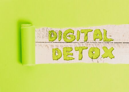 Word writing text Digital Detox. Business photo showcasing Free of Electronic Devices Disconnect to Reconnect Unplugged