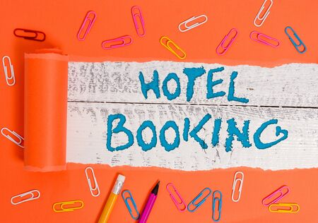 Conceptual hand writing showing Hotel Booking. Concept meaning Online Reservations Presidential Suite De Luxe Hospitality