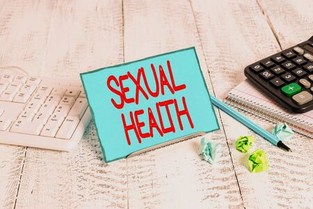 Text sign showing Sexual Health. Business photo text positive and respectful approach to sexual relationships Stock Photo