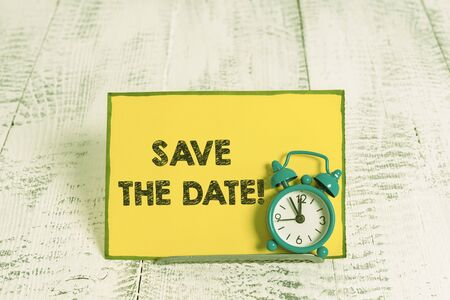 Handwriting text writing Save The Date. Conceptual photo remember not schedule anything else on this day Stock Photo
