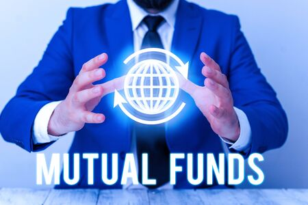 Handwriting text Mutual Funds. Conceptual photo An investment program funded by shareholders Individual Stocks Stok Fotoğraf