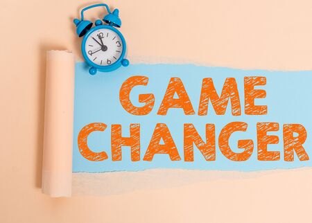 Text sign showing Game Changer. Business photo showcasing Sports Data Scorekeeper Gamestreams Live Scores Team Admins