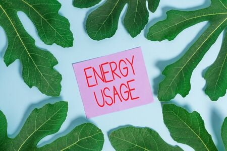 Handwriting text Energy Usage. Conceptual photo Amount of energy consumed or used in a process or system