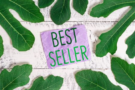 Word writing text Best Seller. Business photo showcasing book or other product that sells in very large numbers