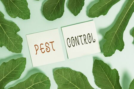 Handwriting text writing Pest Control. Conceptual photo Killing destructive insects that attacks crops and livestock