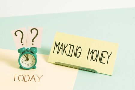 Handwriting text writing Making Money. Conceptual photo Giving the opportunity to make a profit Earn financial support