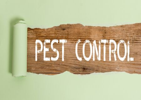 Text sign showing Pest Control. Business photo text Killing destructive insects that attacks crops and livestock