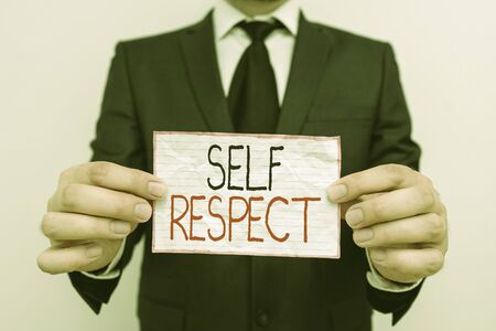 Handwriting text Self Respect. Conceptual photo Pride and confidence in oneself Stand up for yourself